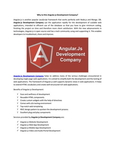 Why to Hire Angular js Development Company? by Vibrant Info