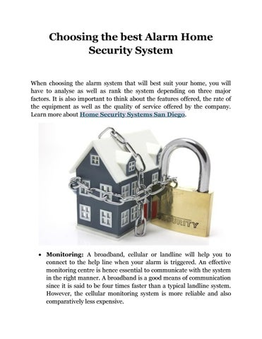 Choosing The Best Alarm Home Security System When That Will Suit Your You Have To Yse As Well Rank