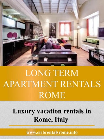Page 1 Long Term Apartment Rentals Rome Luxury Vacation