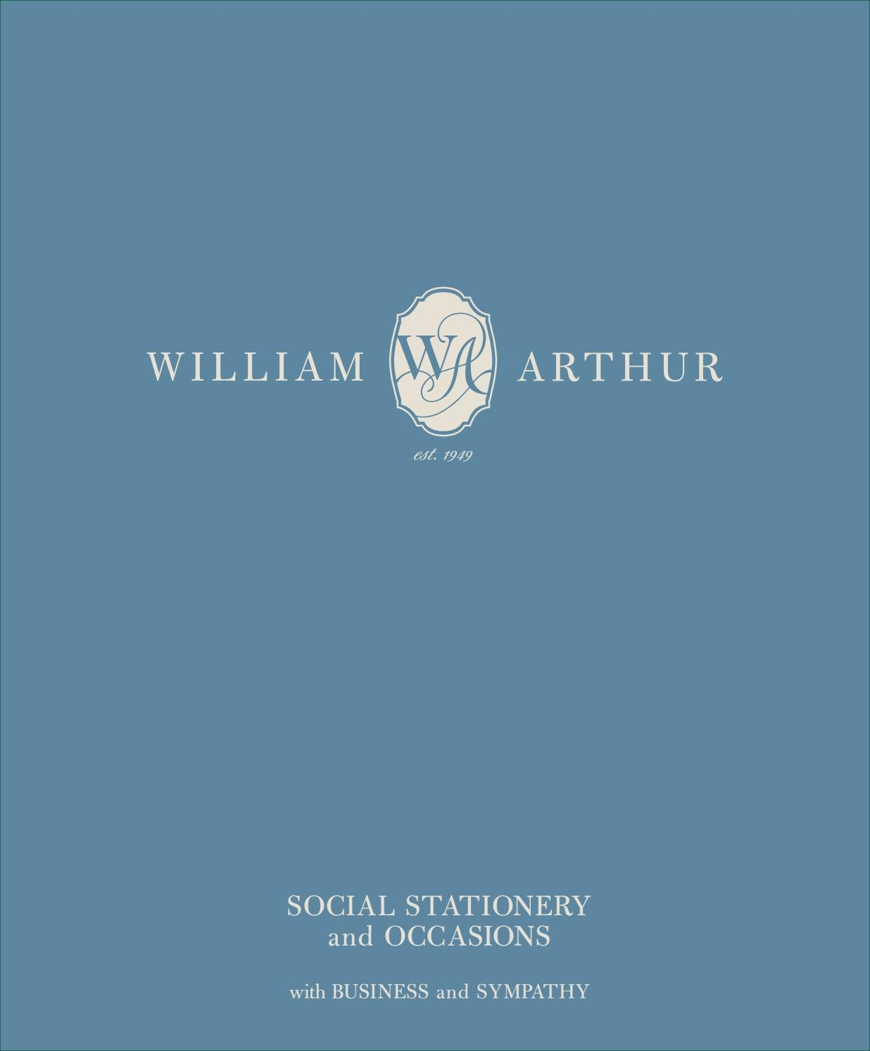William Arthur Social Stationery William Arthur Weddings