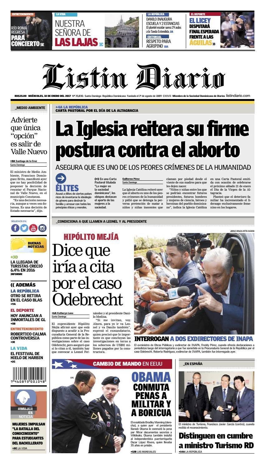 9920bb15d08 LD 18-01-2017 by Listín Diario - issuu