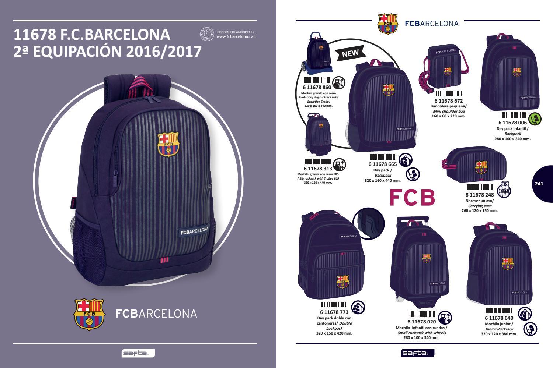 Trolley. FC Barcelona Mochila con Carro Ruedas Evolution