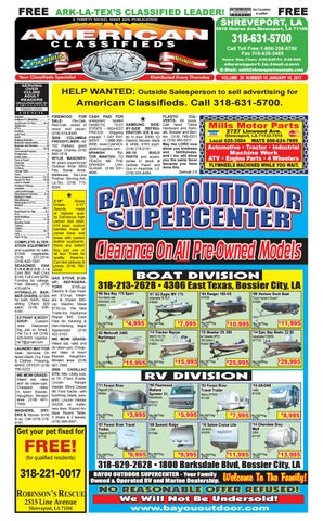 American Classifieds Shreveport La January 19th 2017 By