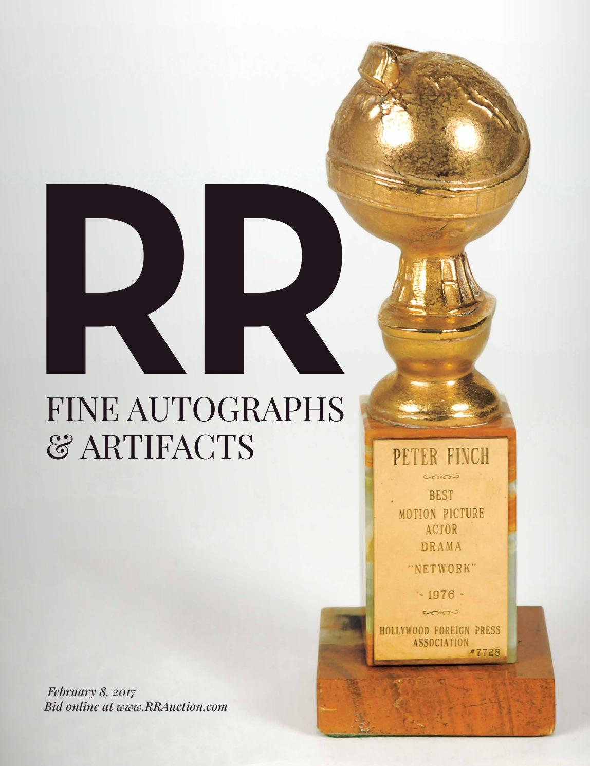 Rr Autograph Auctions Consignment Agreement: RR Auction: February 2017 Fine Autograph And Artifact