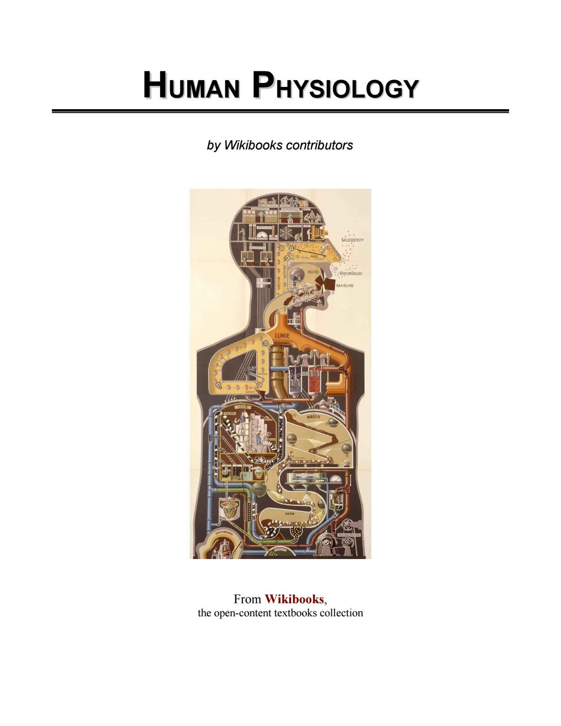 Individual physiology is the analysis of the functioning of the ...