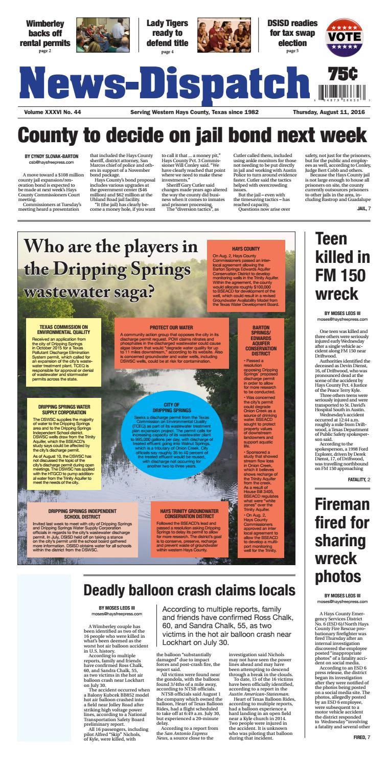 Aug  11, 2016 News-Dispatch