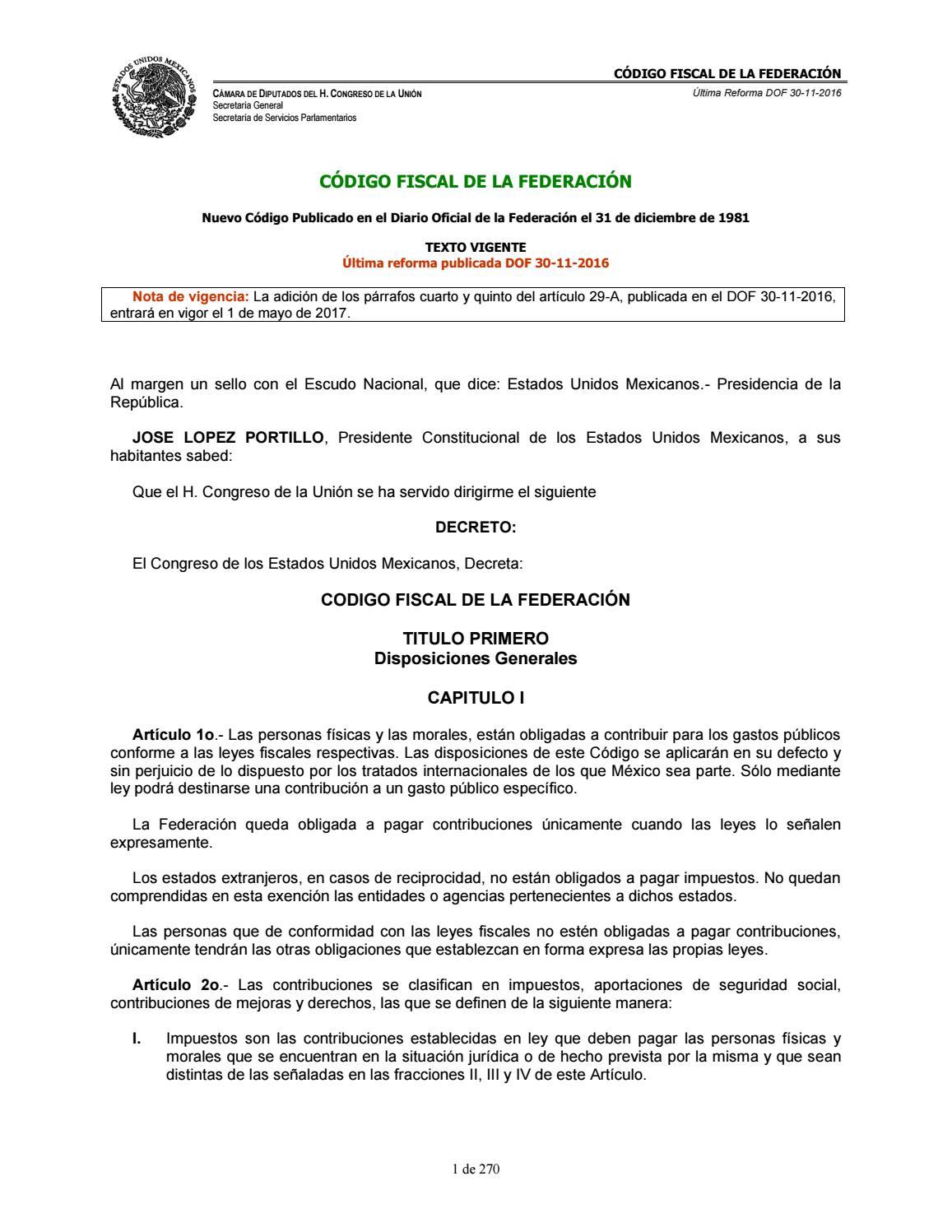 Codigo Fiscal de la Federacion by Nataly Aguilar - issuu