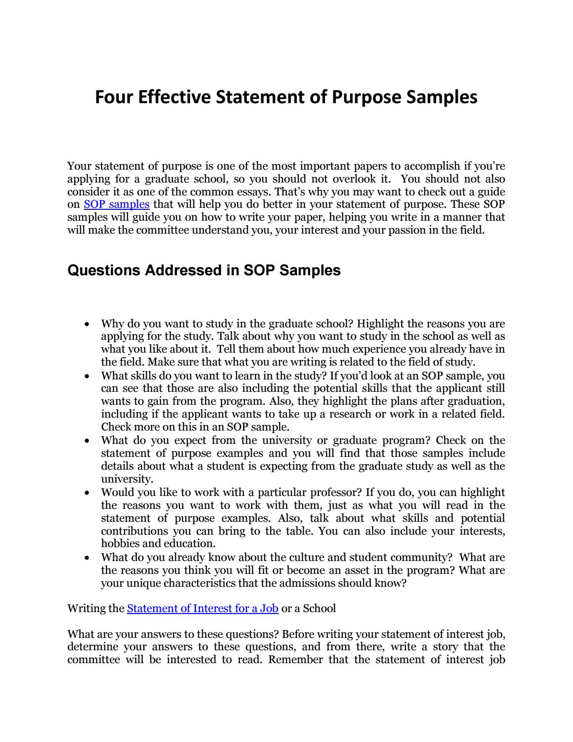 How to Write an Effective Personal Statement with SOP Samples by