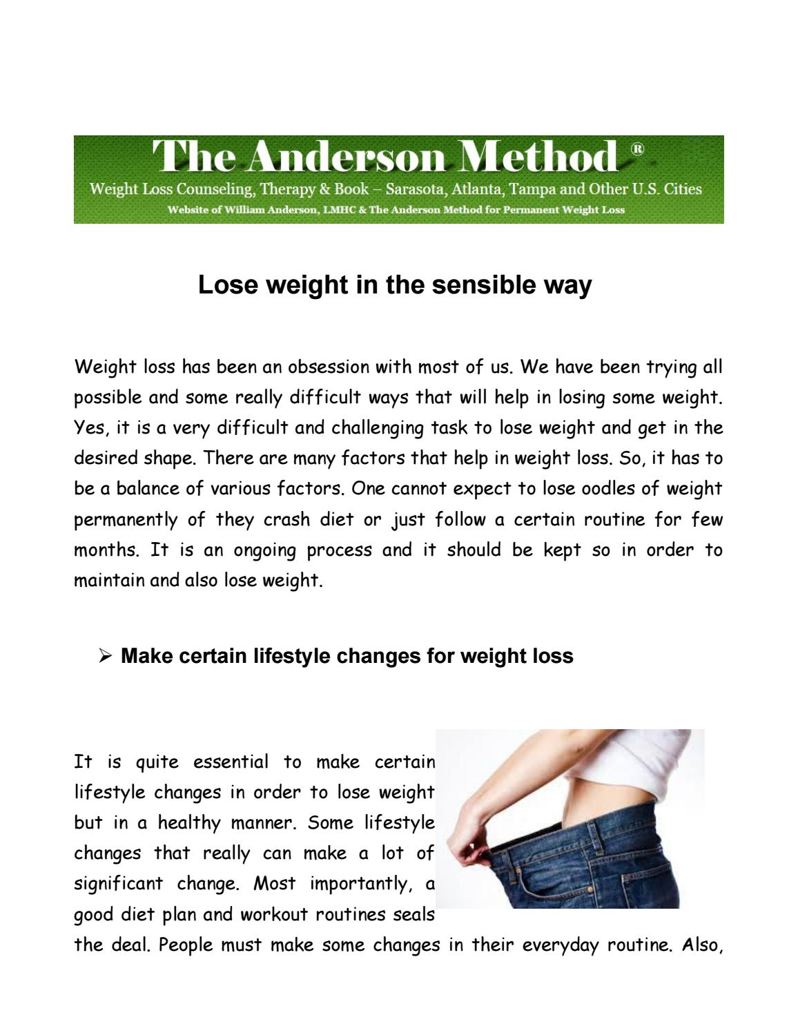 Everyday changes to lose weight