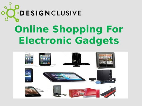 Online Shopping For Electronic Gadgets by Design Clusive