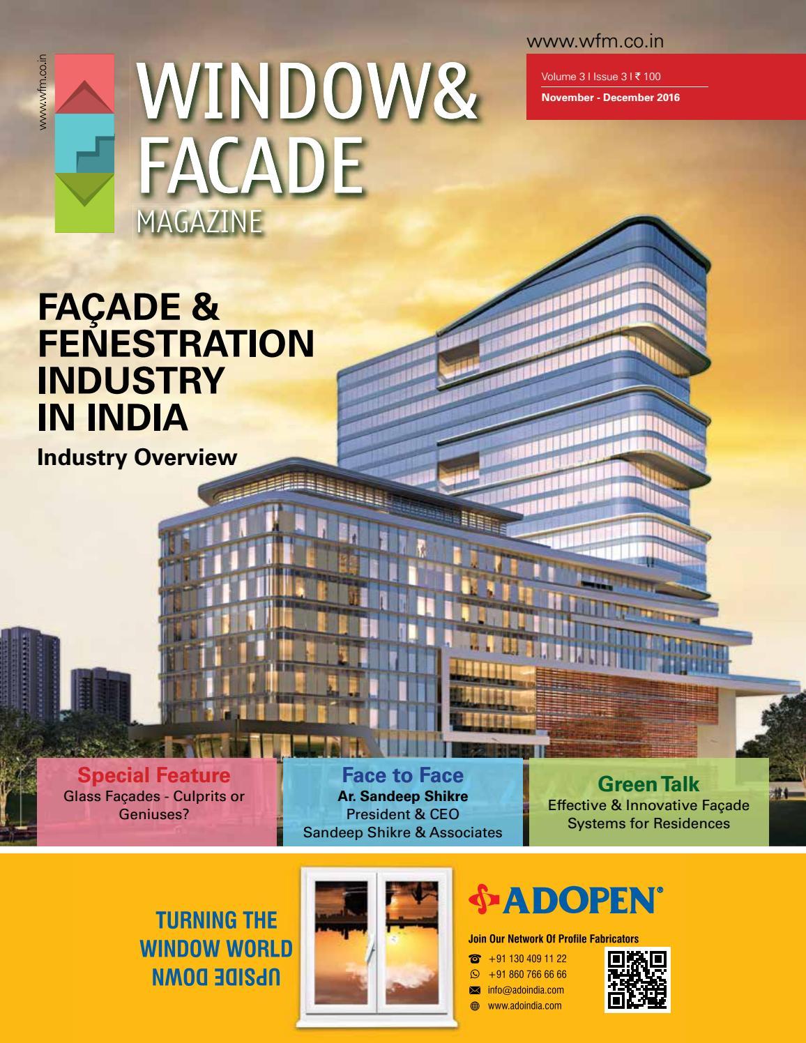 Window \u0026 Facade Magazine - November/ December 2016 issue by F \u0026 F ...