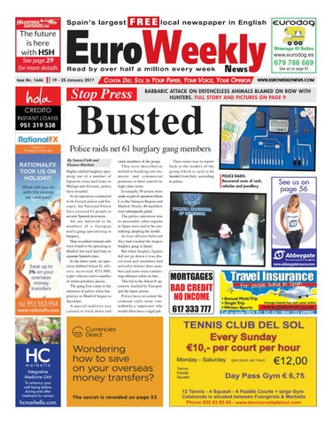 Euro weekly news costa del sol 19 25 january 2017 issue 1646 by page 1 fandeluxe Image collections
