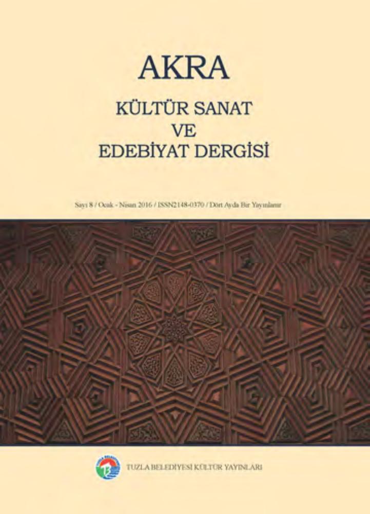 Akra Kültür Sanat Ve Edebiyat Dergisi 8 By Tuzla Belediyesi Issuu