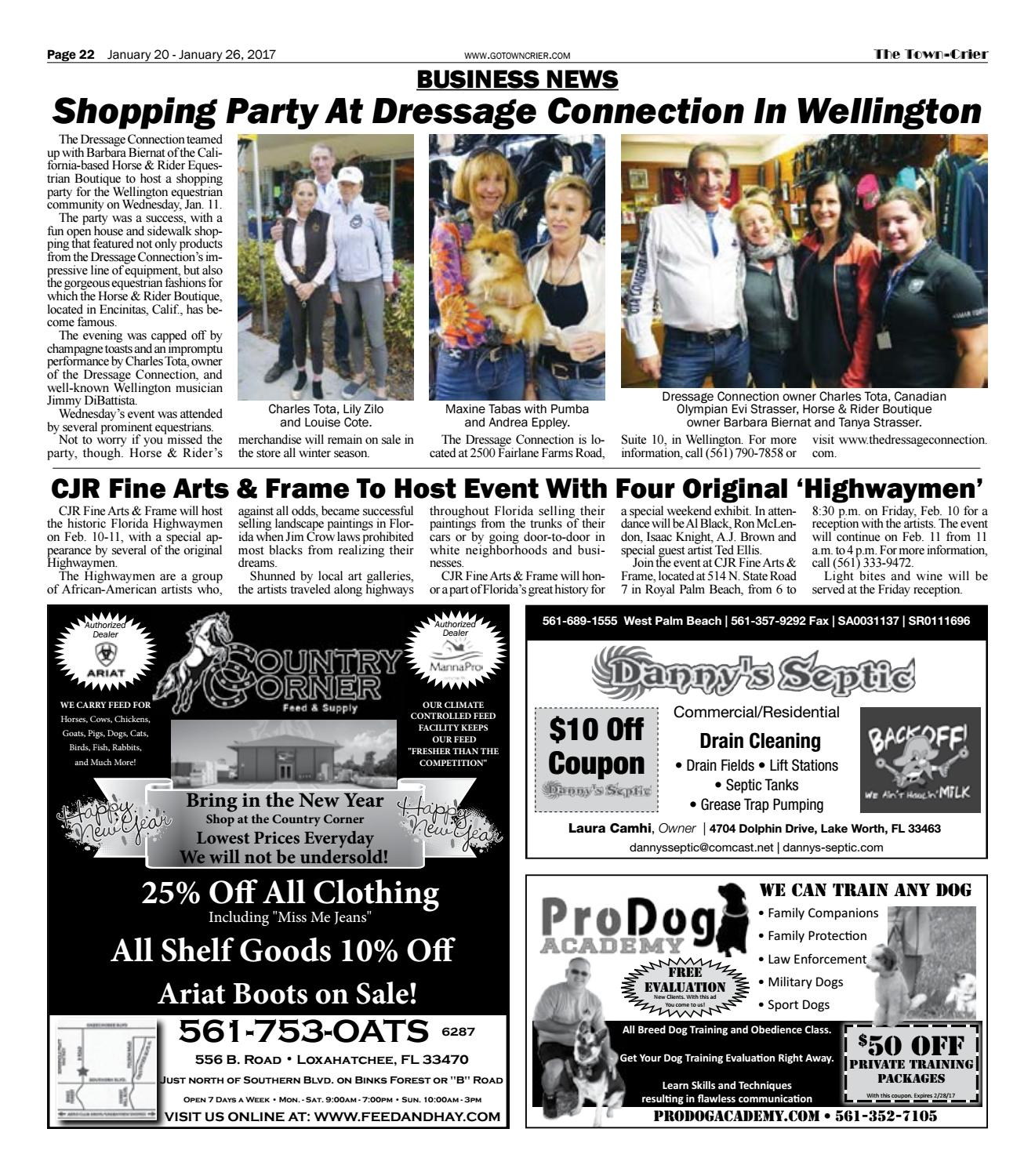 Town-Crier Newspaper January 20, 2017 by Wellington The