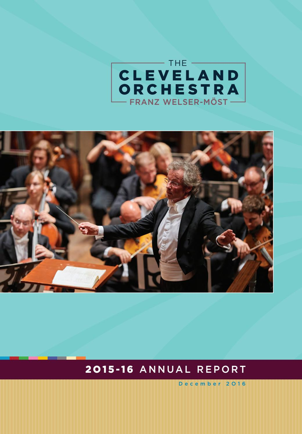 The Cleveland Orchestra — Annual Report 2015-16 by The