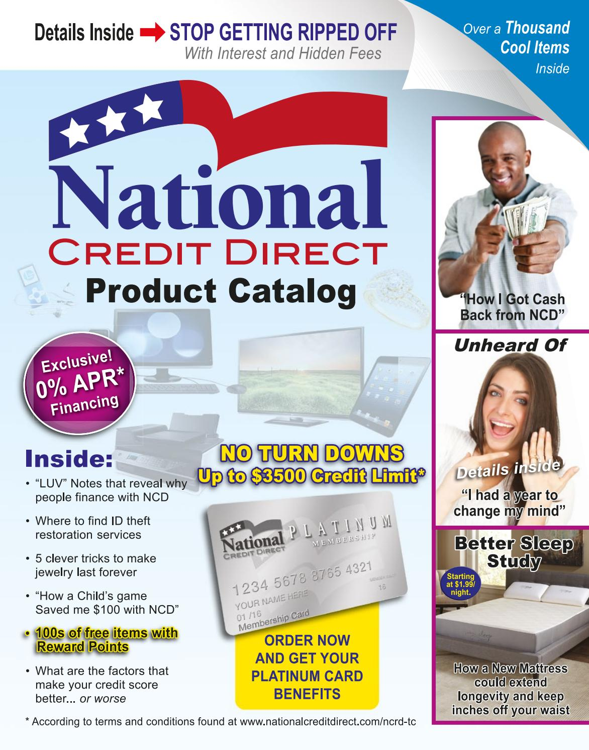 1d4212ebc0bf75 National Credit Direct Product Catalog by Enrique Guilarte - issuu