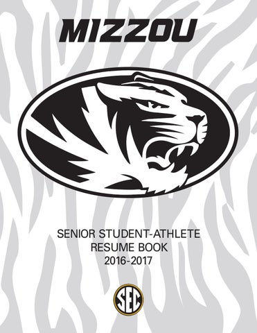 2016 2017 mizzou athletics senior resume book by kim bishop Real Estate Networking page 1