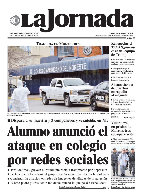 La Jornada, 01/19/2017 by La Jornada: DEMOS Desarrollo de Medios ...