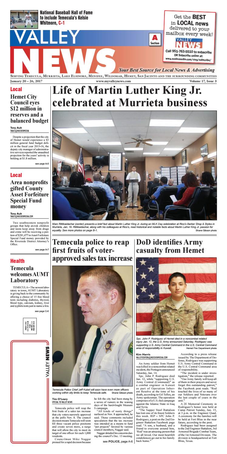 Temecula Valley News by Village News, Inc  - issuu