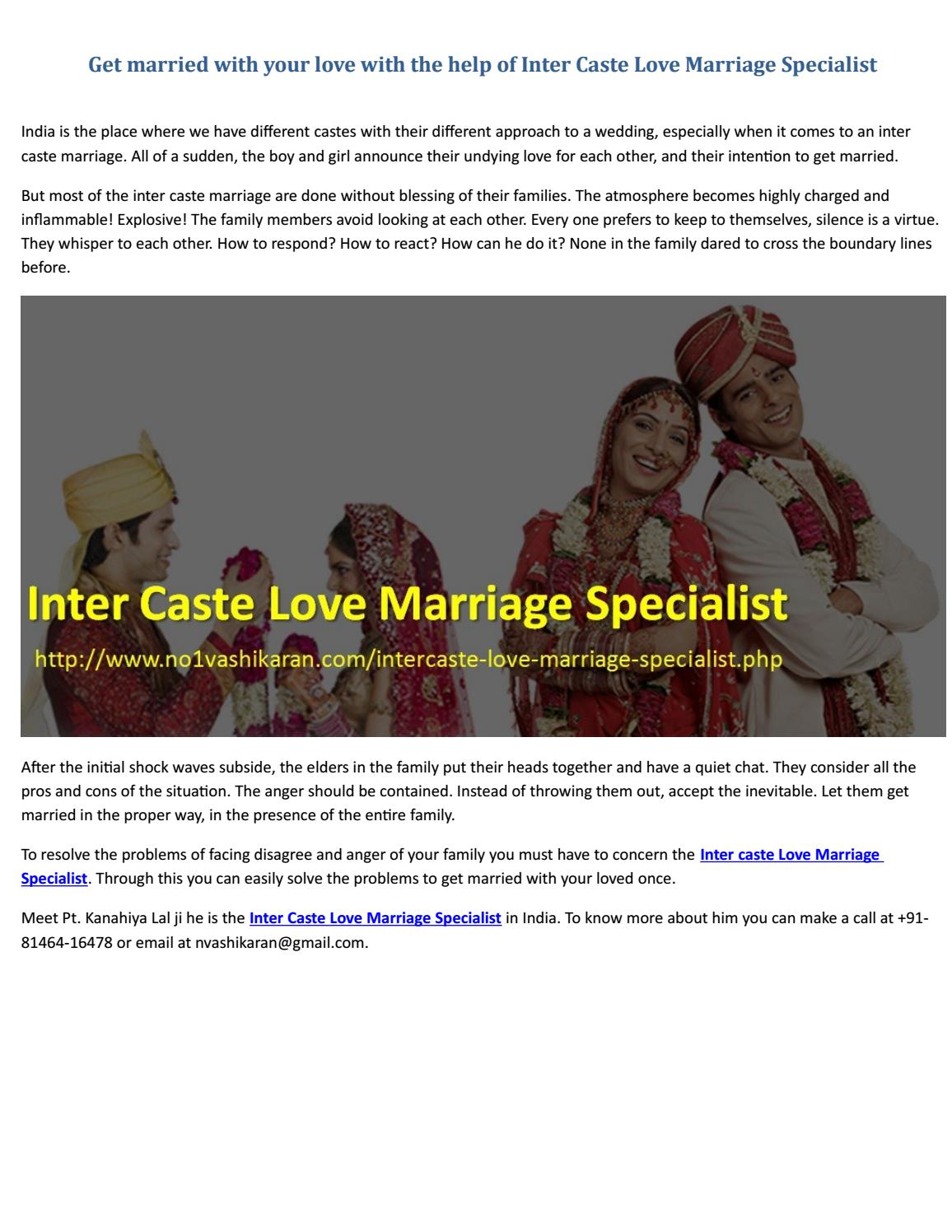Get married with your love with the help of inter caste love get married with your love with the help of inter caste love marriage specialist by no1 vashikaran specialist pt kanahiya lal ji issuu ccuart Image collections