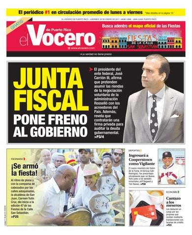 Edición 20 de Enero 2017 by El Vocero de Puerto Rico - issuu b2335d9437c