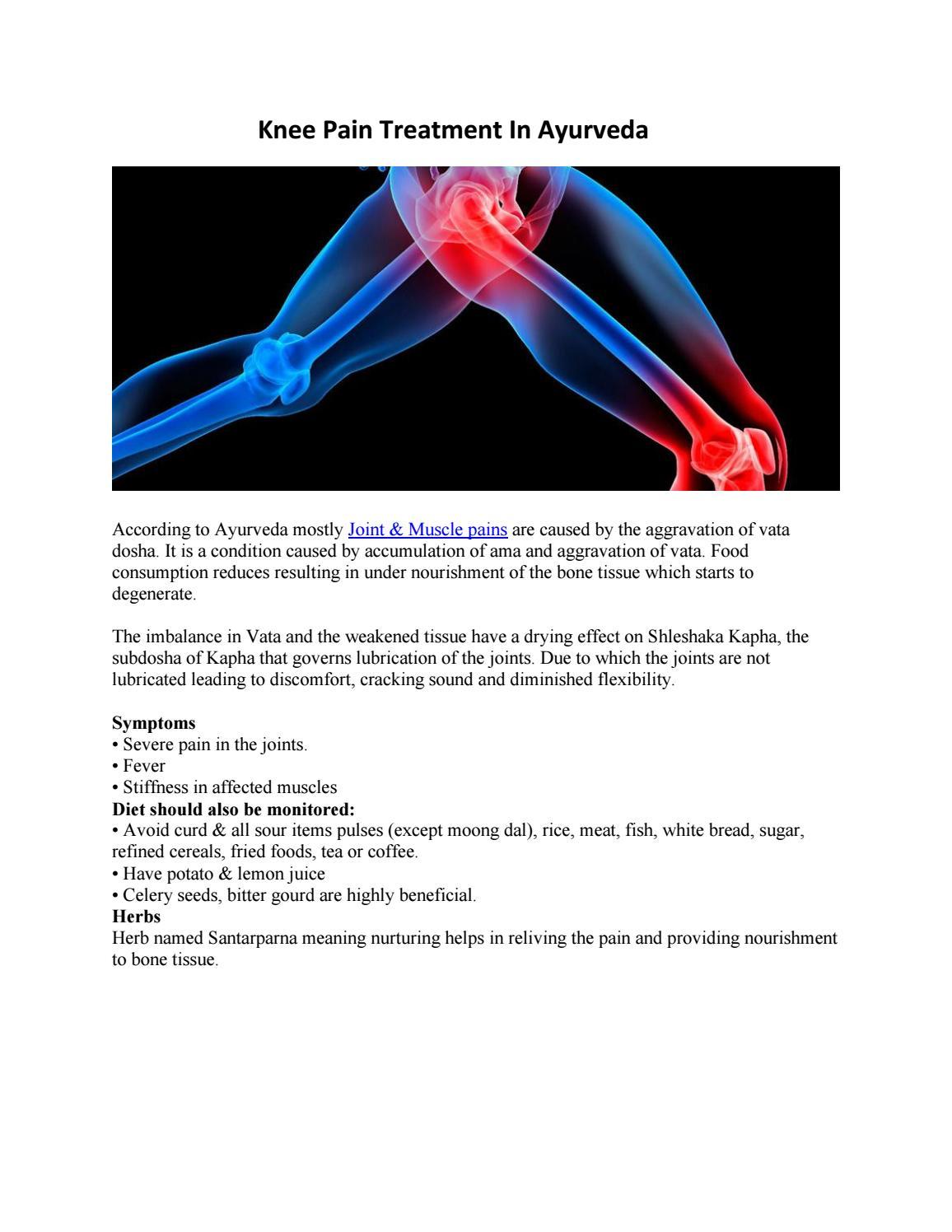 Knee pain treatment in ayurveda by Best Ayurvedichospital in