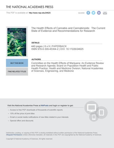 The health effects of cannabis and cannabinoids by adrin lpez the national academies press this pdf is available at httpnap24625 fandeluxe Choice Image