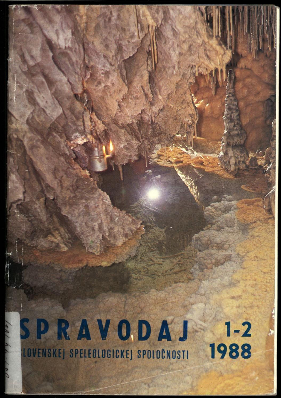 0effb4d51 Spravodaj sss 1988 1 2 by Slovenská Speleologická Spoločnosť - issuu