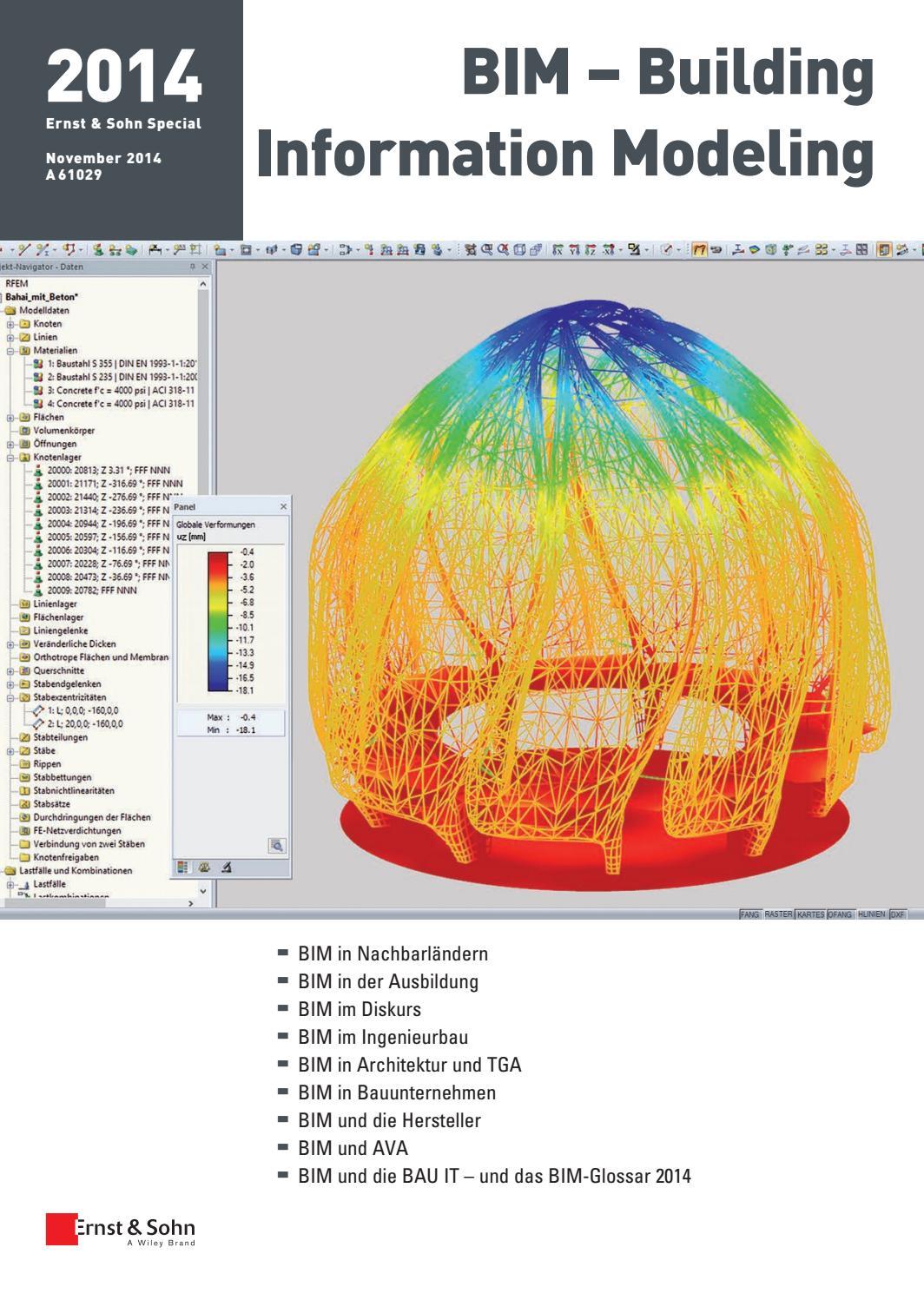 Ernst & Sohn Sonderheft BIM Building Information Modeling 2014 by Ernst &  Sohn - issuu