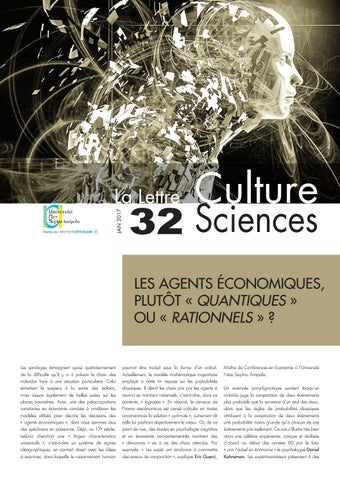 La lettre Culture Science n°32