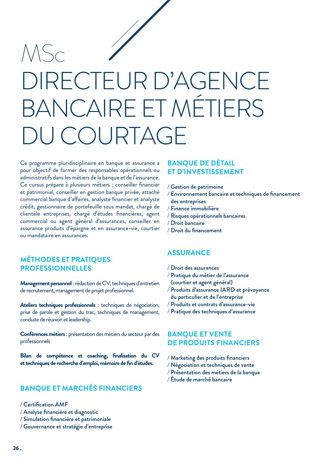 Brochure Finance INSEEC MSc & MBA Lyon by O ET D - issuu