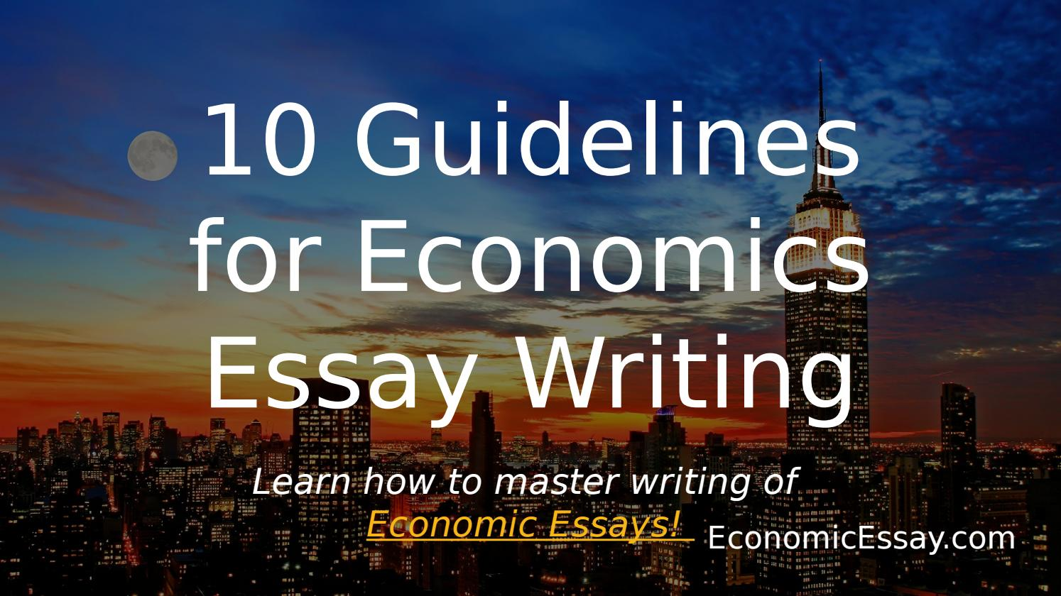 economics 9 essay Essays in economics of education  isbn 951 – 45 – 8705 – 9 (pdf version)   the economics of education originates to the research that i did while working at.