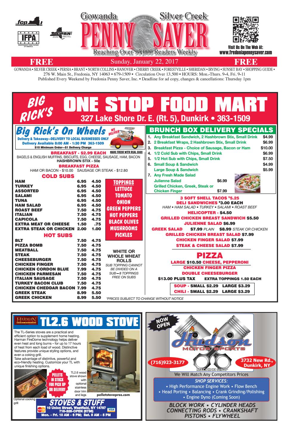 Food Delivery In Fredonia Ny