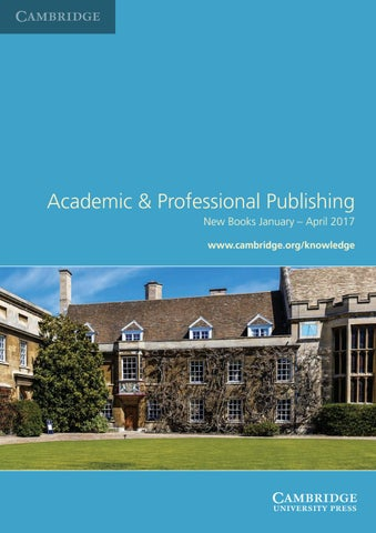 Academic and professional publishing new books january april 2017 by services for booksellers make use of the wide range of services which cambridge offers fandeluxe Image collections