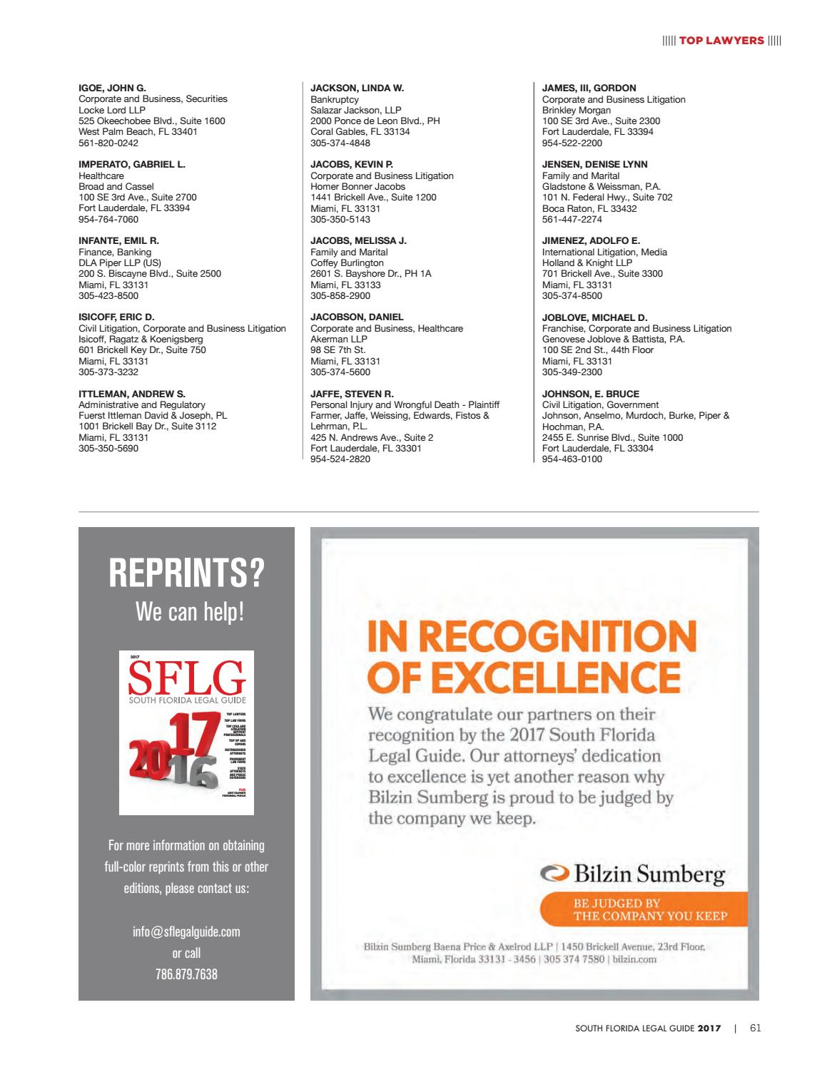 2d145dcdb 2017 South Florida Legal Guide by South Florida Legal Guide - issuu