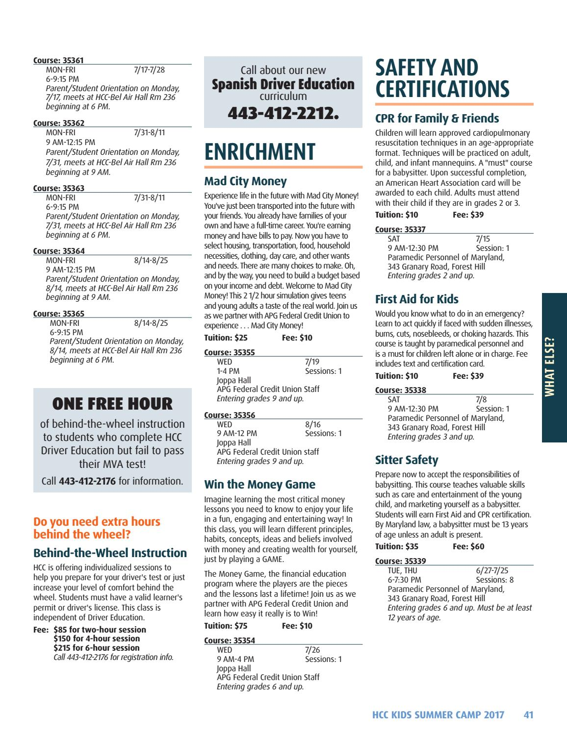 HCC Kids Summer Camp Catalog by Harford Community College - issuu