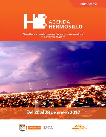 "Cover of ""Agenda Hermosillo 20 ene 2017"""