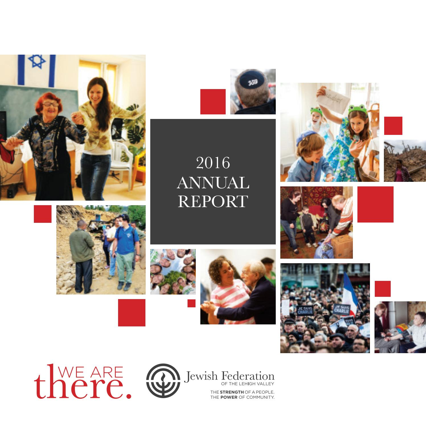 Annual Report 2016 by Jewish Federation of the Lehigh Valley - issuu
