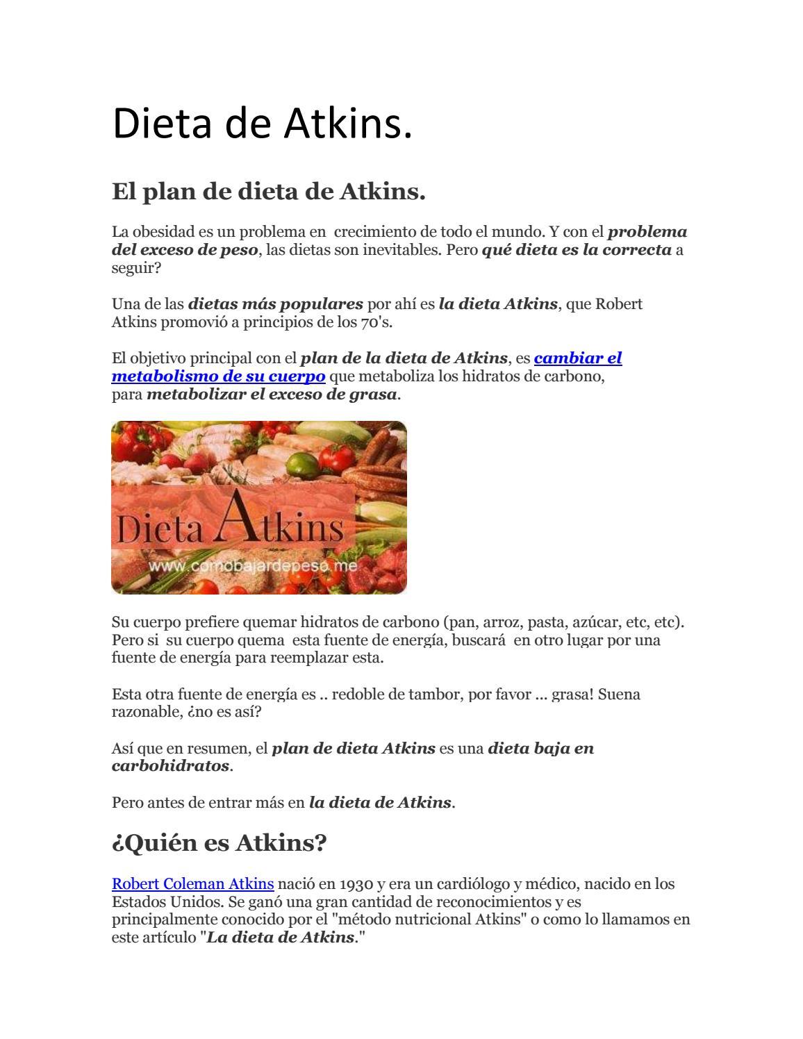 dieta del medico atkinse