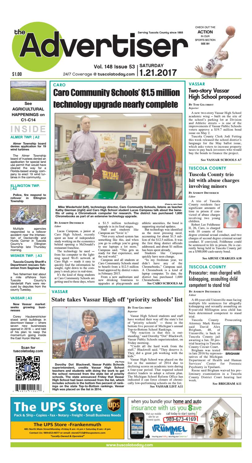 cc8163ebd068 Tca 1 21 17 all pages by Tuscola County Advertiser - issuu