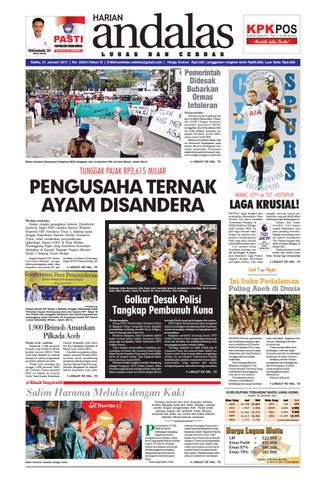 Epaper Andalas Edisi Sabtu 21 Januari 2017 By Media Andalas Issuu