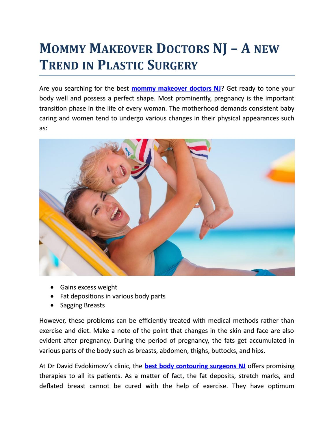 Mommy Makeover Doctors NJ – A new Trend in Plastic Surgery