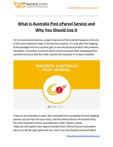 What is Australia Post eParcel Service and Why You Should
