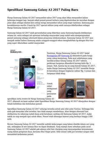 Spesifikasi Samsung Galaxy A3 2017 Paling Baru Harga Menyambut Tahun Yang Akan Lekas Kalian Beberapa Tenggat Lagi