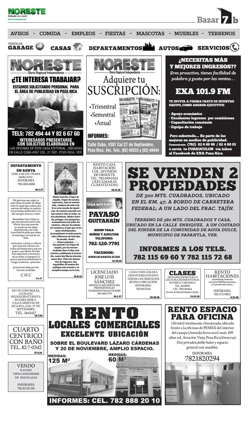 Versi N Impresa 21 De Enero De 2017 By Noreste Diario Regional  # Muebles Poza Rica Veracruz