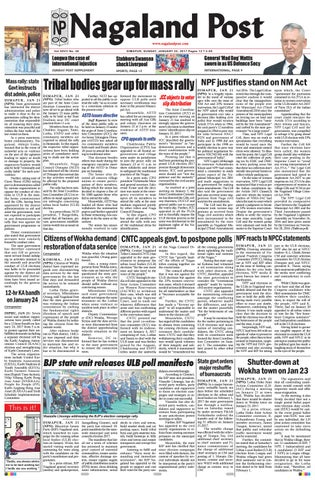 January 22, 2017 by Nagaland Post - issuu