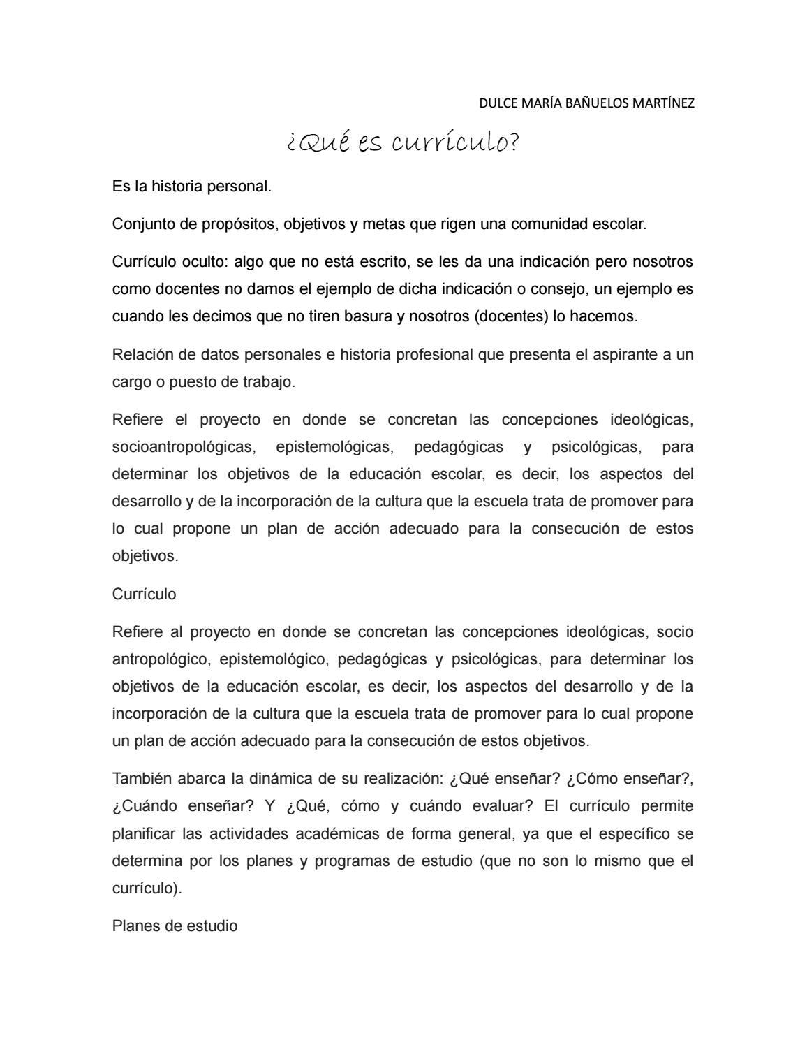 Qué es curriculum by dulcebenmac - issuu