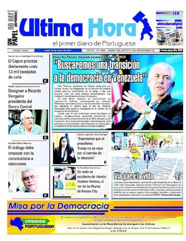 Edicion 23 01 2017 By Ultima Hora El Primer Diario De Portuguesa Issuu