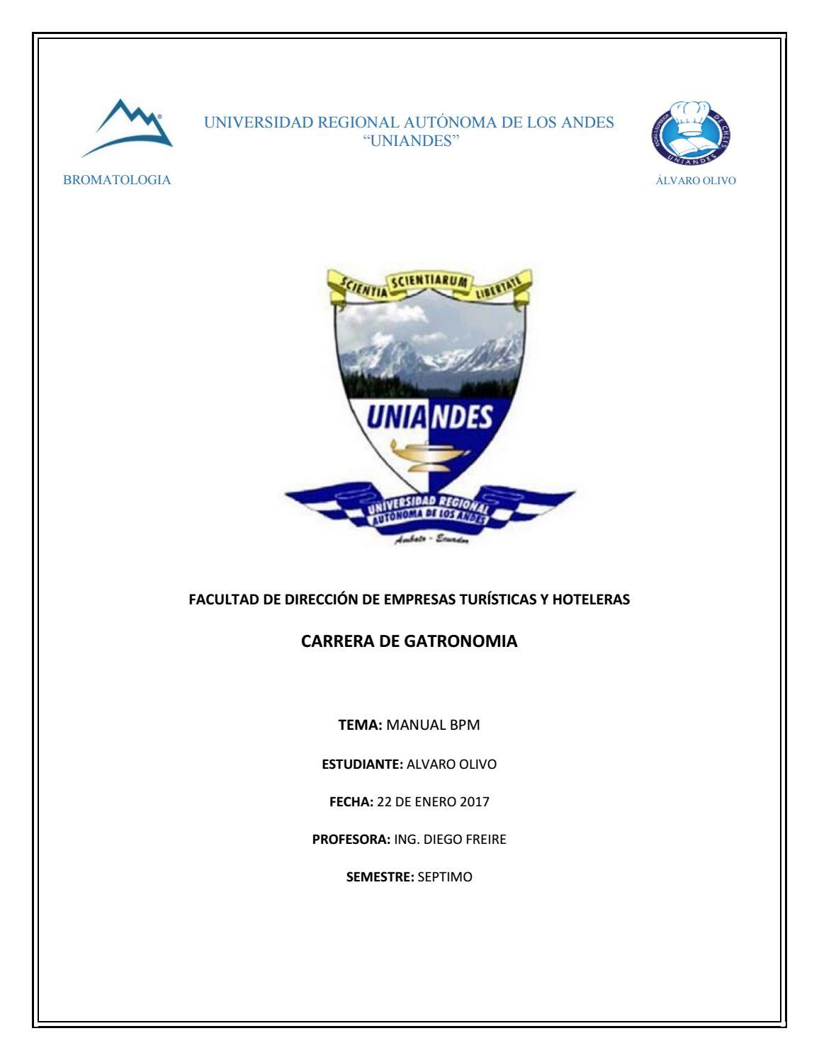 Manual de bpm para producto final by Alvaro Olivo - issuu