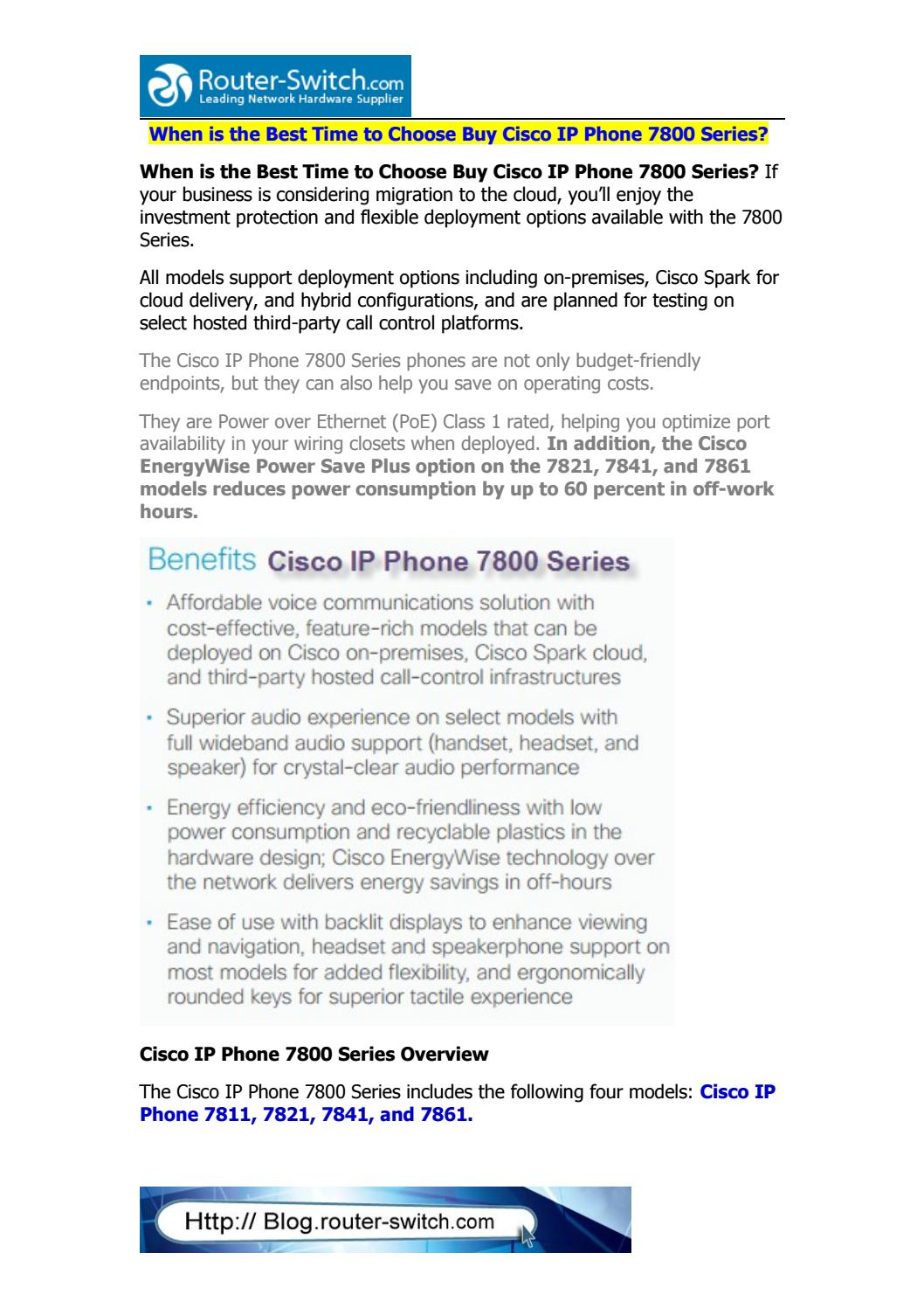 When is the best time to choose buy cisco ip phone 7800